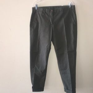 Olive Army Khakis Broken-In Straight Gap Pants